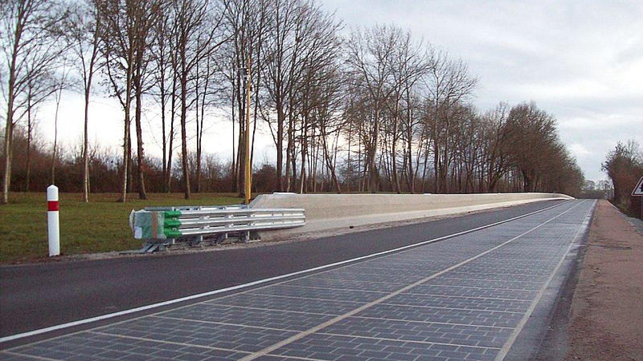 Solární silnice v Tourouvre