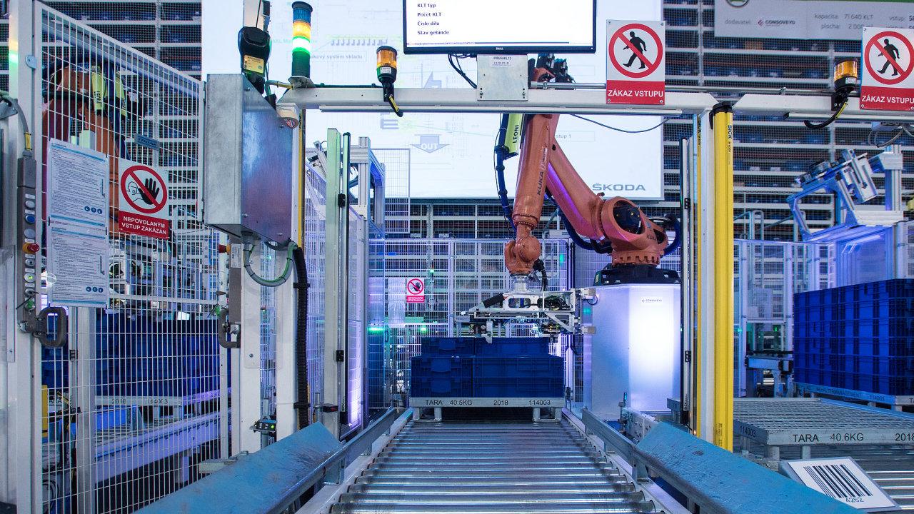 Robotický sklad Škoda Auto