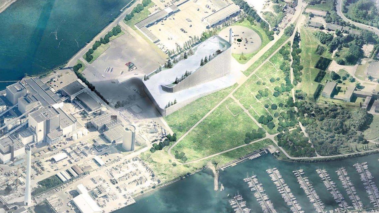 Dánská spalovna Amager Bakke zásobuje Kodaň elektřinou a teplem.