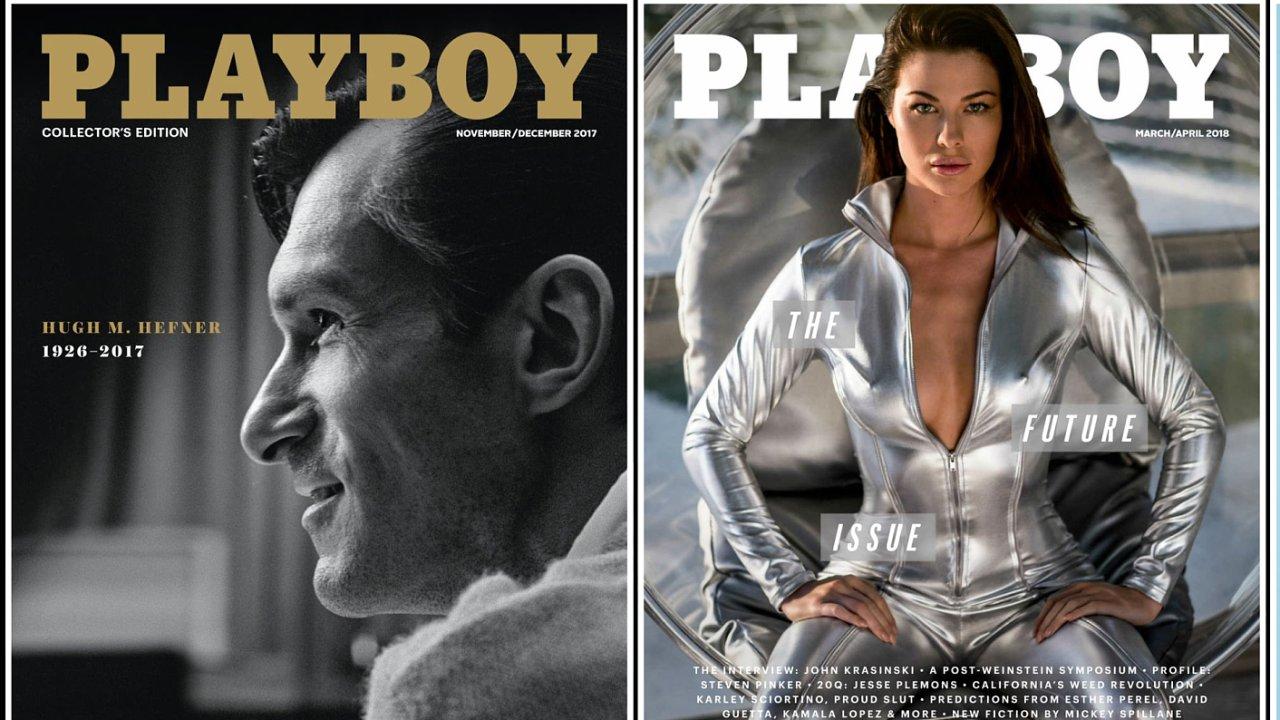 Tištěná verze amerického vydání magazínu Playboy