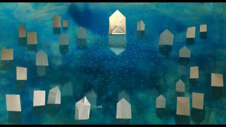 Wanderend Haus voll Vogelwasser