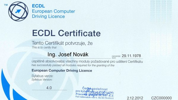 """ECDL Certifikat je evropským """"řidičákem"""" na počítač."""