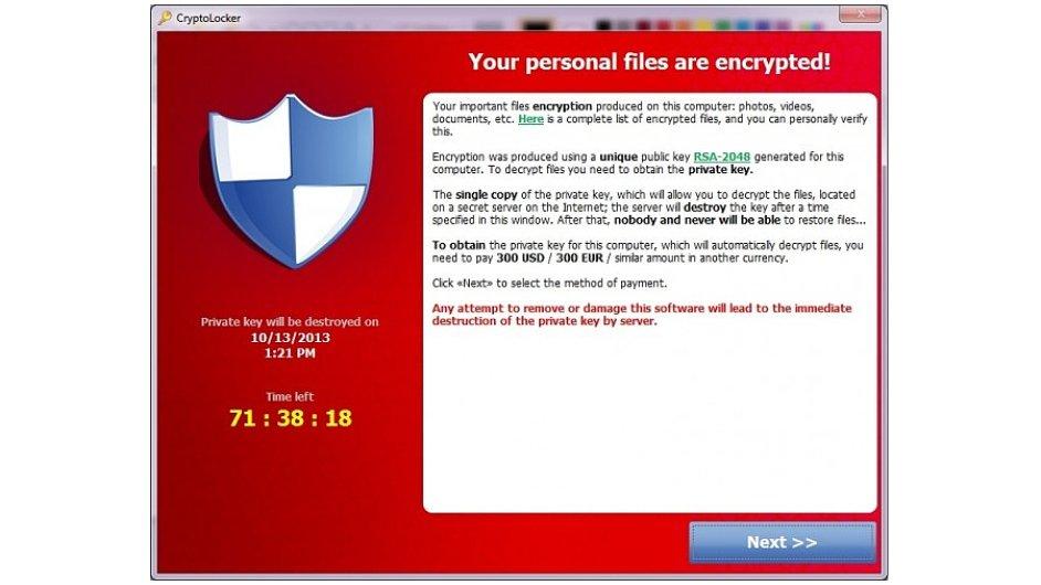 Ransomware: Zaplaťte, nebo už data neuvidíte