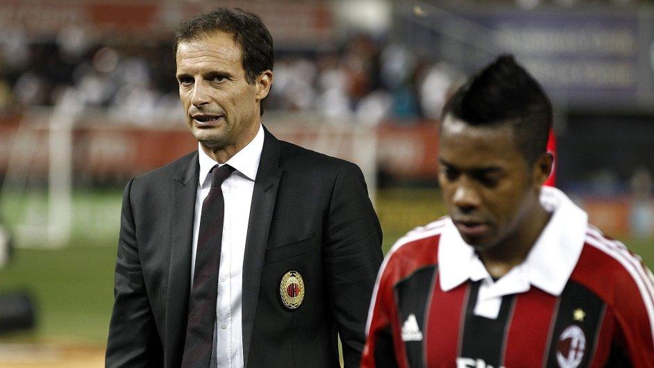 Massimiliano Allegri se s klopýtajícím AC Milán loučí po porážce od Sassuola