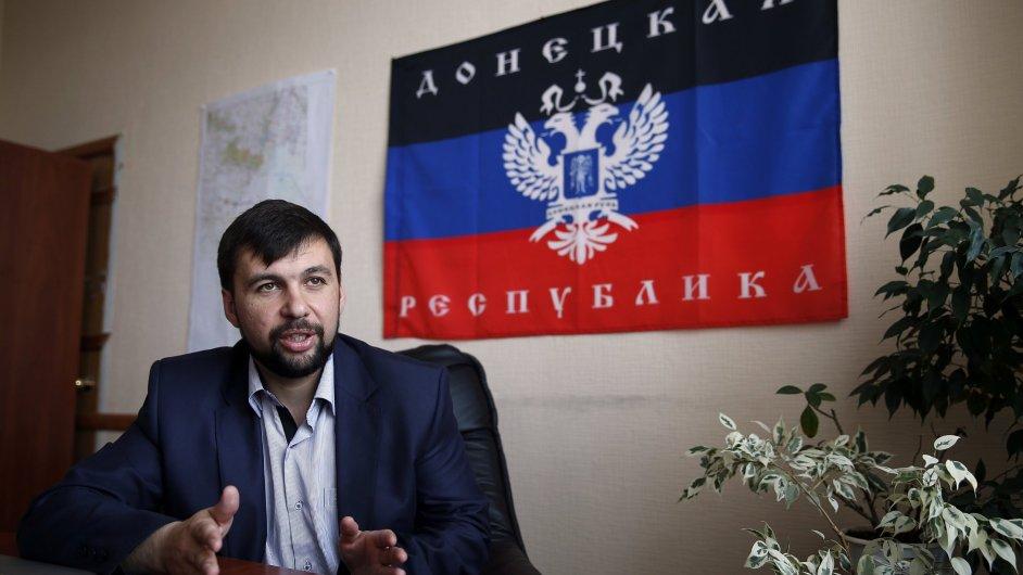 Představitel doněckých vzbouřenců Pušilin apeluje na Kyjev, aby vymezil území pro samosprávu, ilustrační foto.