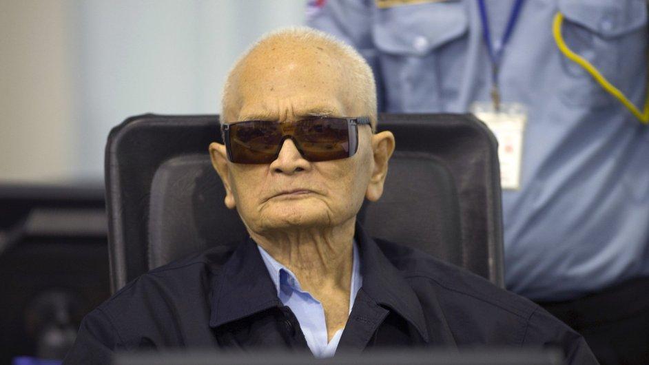 Hlavní ideolog Rudých Khmerů Nuon Chea