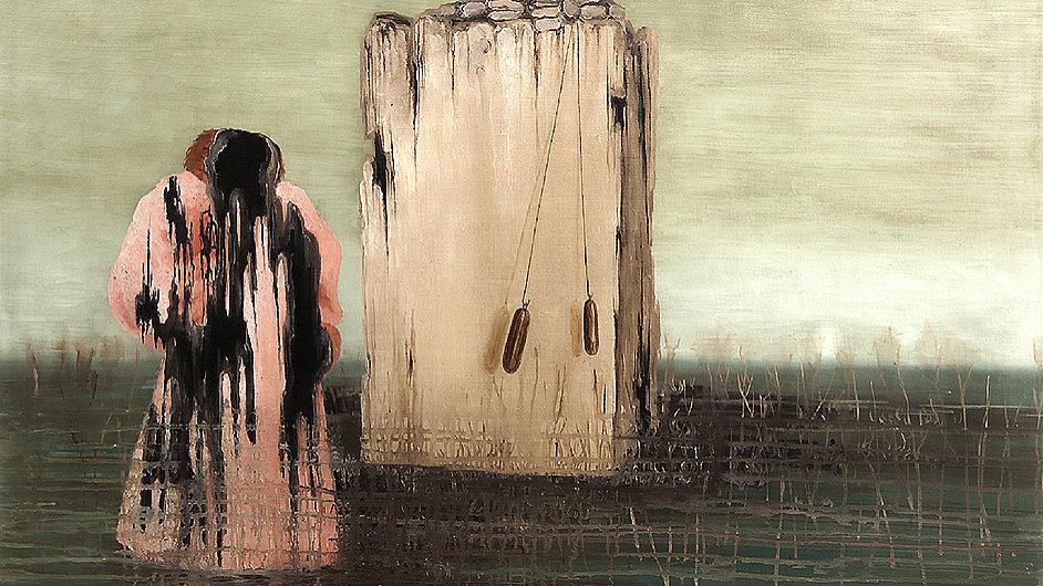 Obraz Toyen nazvaný Sen se bude dražit v neděli v Praze.