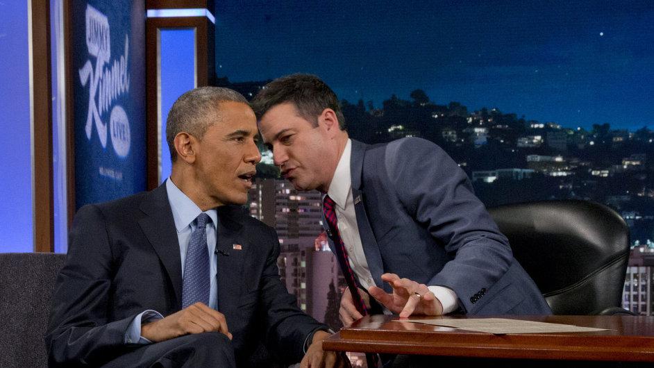 Americký prezident Barack Obama v televizní show.