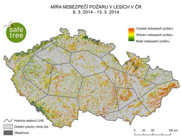 Safetree: Mapa nebezpečí požárů v ČR