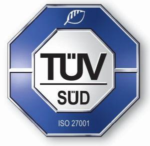 Certifikace TÜV SÜD ISO 27001