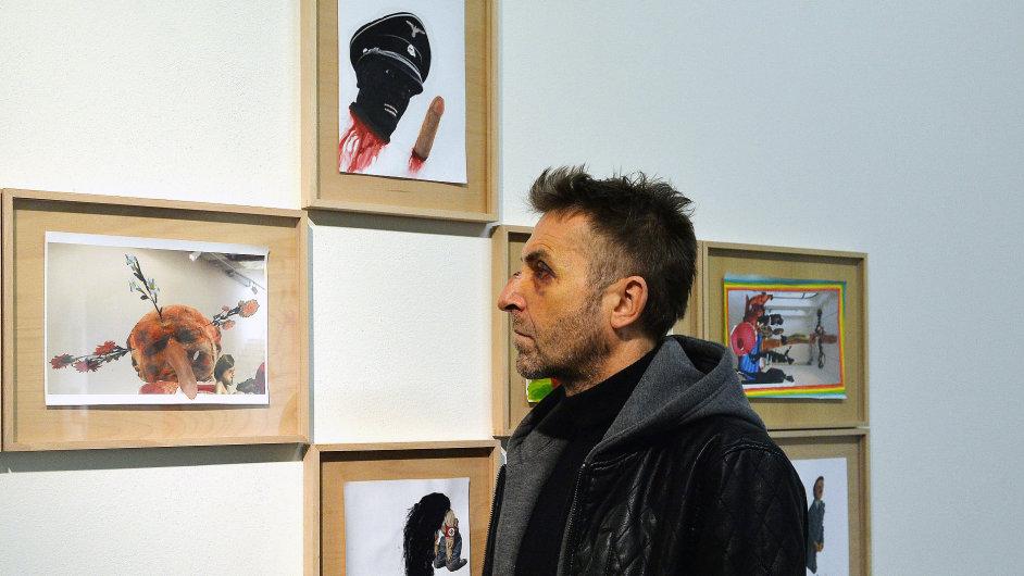 Snímek z výstavy Jiřího Petrboka v Trafo galerii