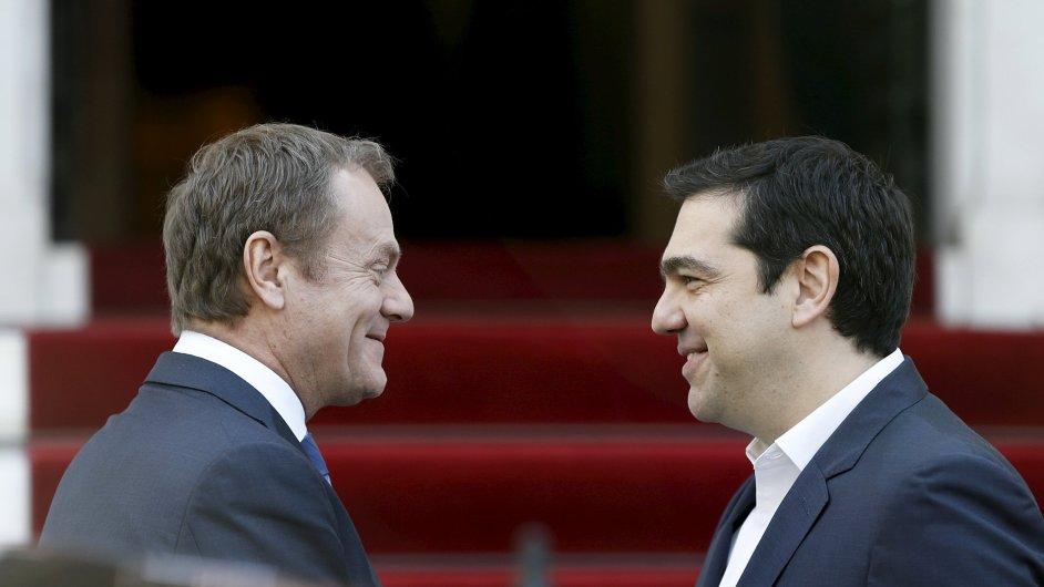Donald Tusk Alexis Tsipras EU Řecko Evropská unie