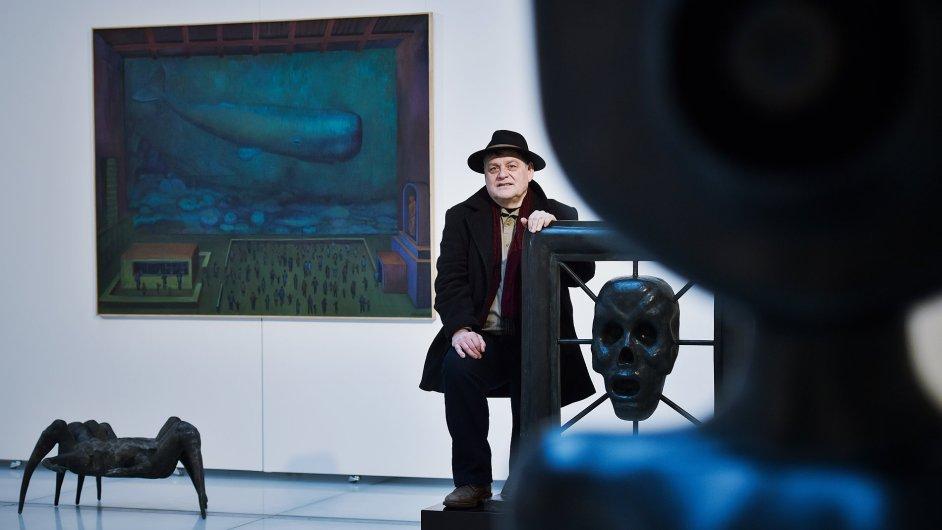 Snímek z výstavy Jaroslava Róny