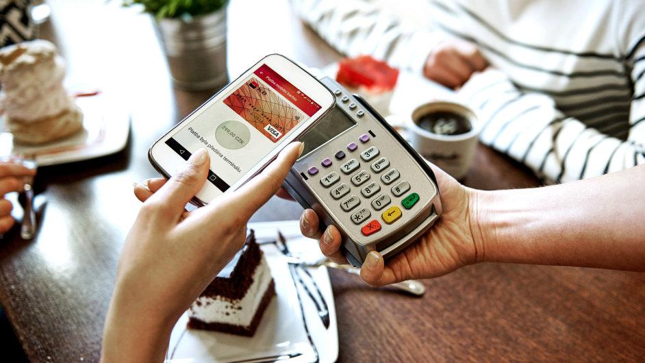 Bezkontaktní placení mobilem od Komerční banky.