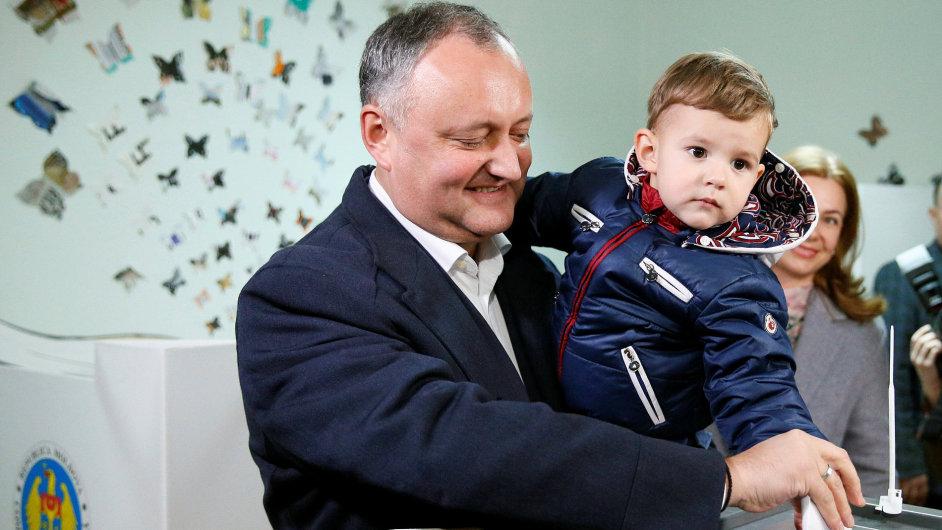Moldavsko volby Igor Dodon