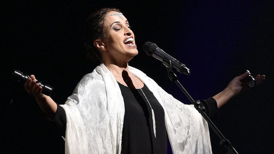 Snímek z koncertu zpěvačky Noa v Janáčkově divadle.