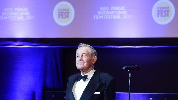 Herec Jan Tříska převzal při zahájení filmového festivalu Febiofest cenu Kristián za přínos světové kinematografii.