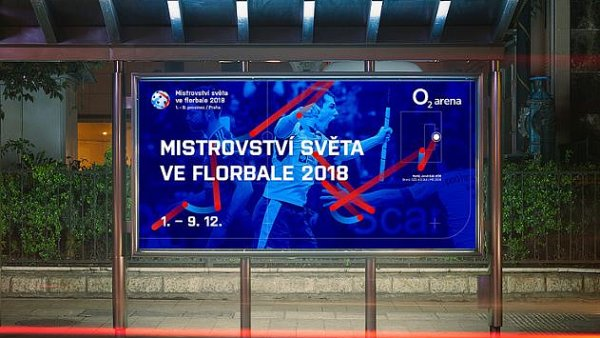 Vizuální identita Mistrovství světa ve florbale 2018