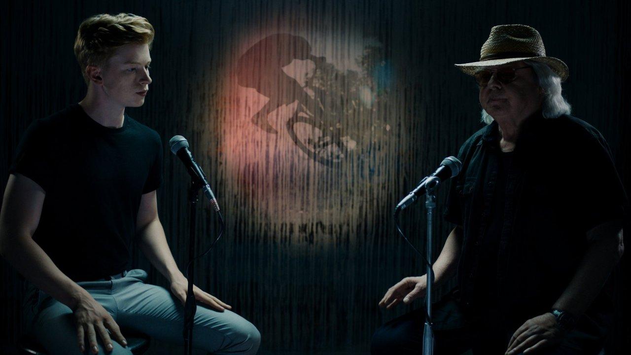 Na snímku z natáčení klipu jsou Adam Mišík a jeho otec Vladimír Mišík.