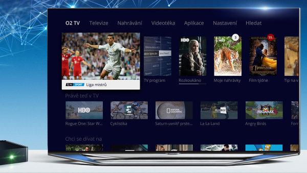 Nové rozhraní O2 TV