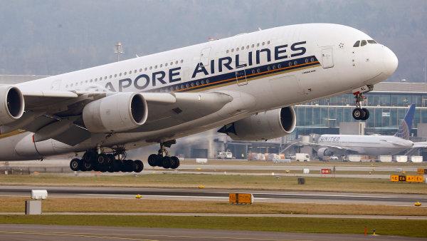 Letadlo Singapore Airlines.