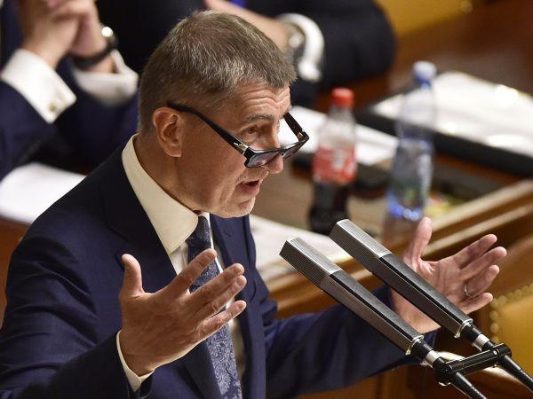 Premiér Andrej Babiš v Poslanecké sněmovně.