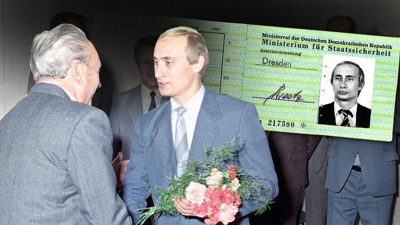 Putin, průkazka Stasi