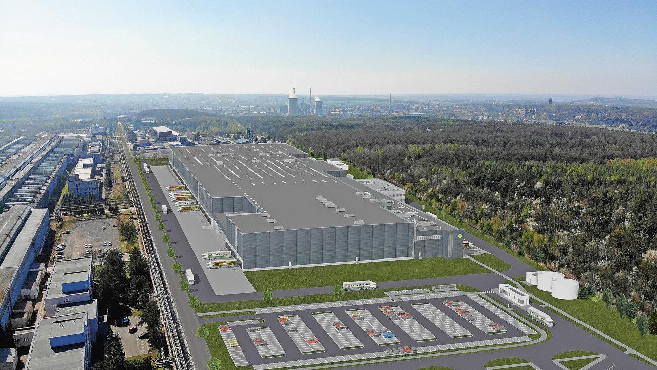 Maloobchodní řetězec Lidl postaví namístě bývalé ocelárny mezi Kladnem aBuštěhradem velké distribuční centrum.