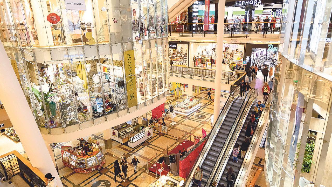 Obchodní centrum Palladium situované v centru Prahy každý den před koronakrizí navštívilo průměrně 47 tisíc zákazníků.
