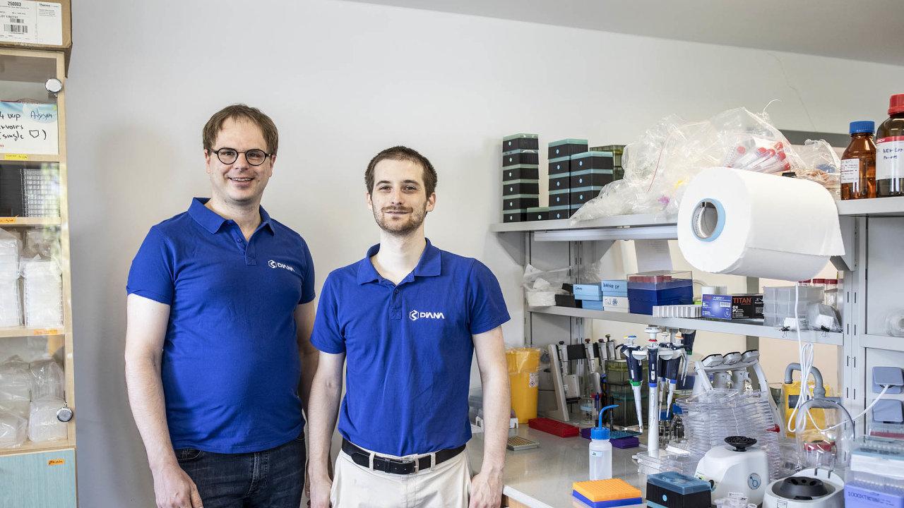 Martin Dienstbier aVáclav Navrátil zDIANA Biotechnologies vyvinuli se svým týmem řešení, které mnohonásobně navýší kapacitu testů nakoronavirus.
