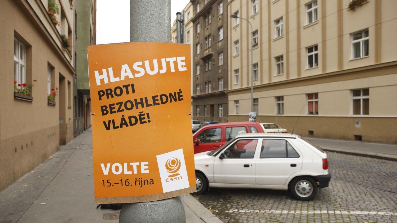 Volební kampaň ČSSD z roku 2010.