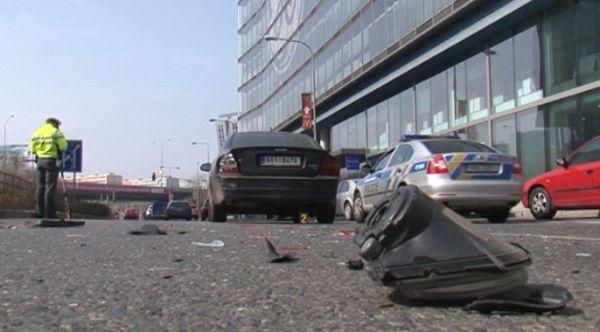Místo, kde došlo k bouračce Romana Janouška