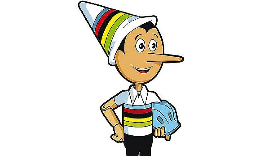 Maskot cyklistického MS Pinocchio