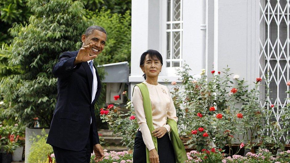Barack Obama na návštěvě v Barmě