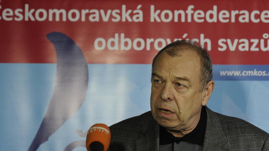 Předseda odborových svazů Jaroslav Zavadil