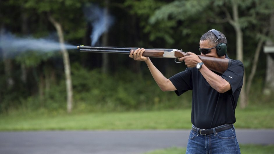 Barack Obama s puškou
