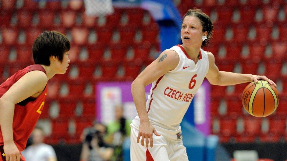 Veronika Bortelová v přípravném utkání proti Číně