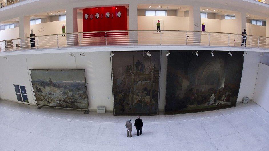 Pohled do interiéru Veletržního paláce, kde sídlí Národní galerie