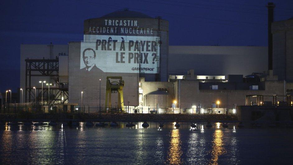 Akce Greenpeace ve francouzské jaderné elektrárně Tricastin