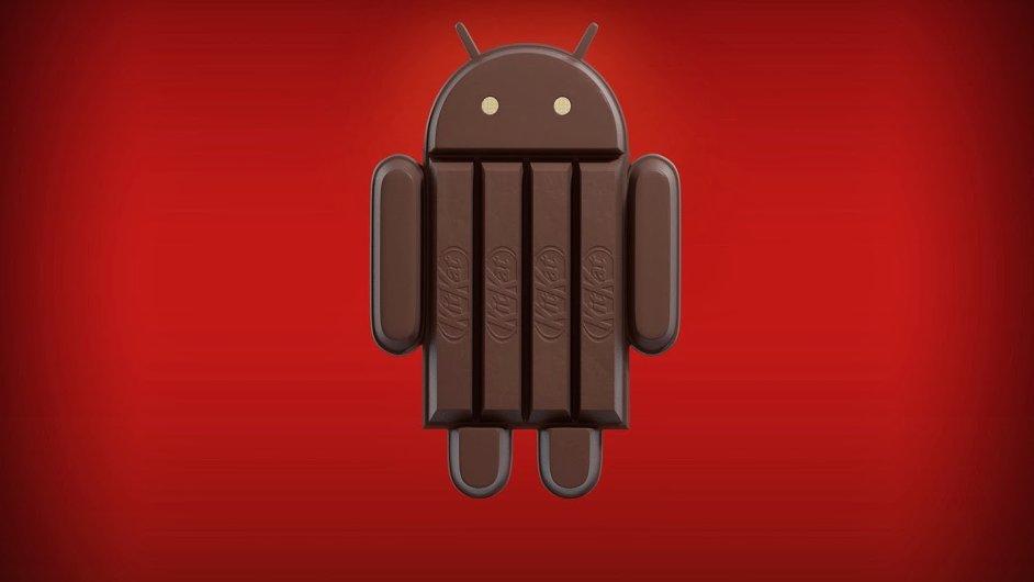 KitKat Android - logo nového androidu v podání Nestlé
