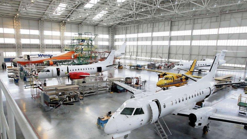 Hangár firmy Job Air na mošnovském letišti.