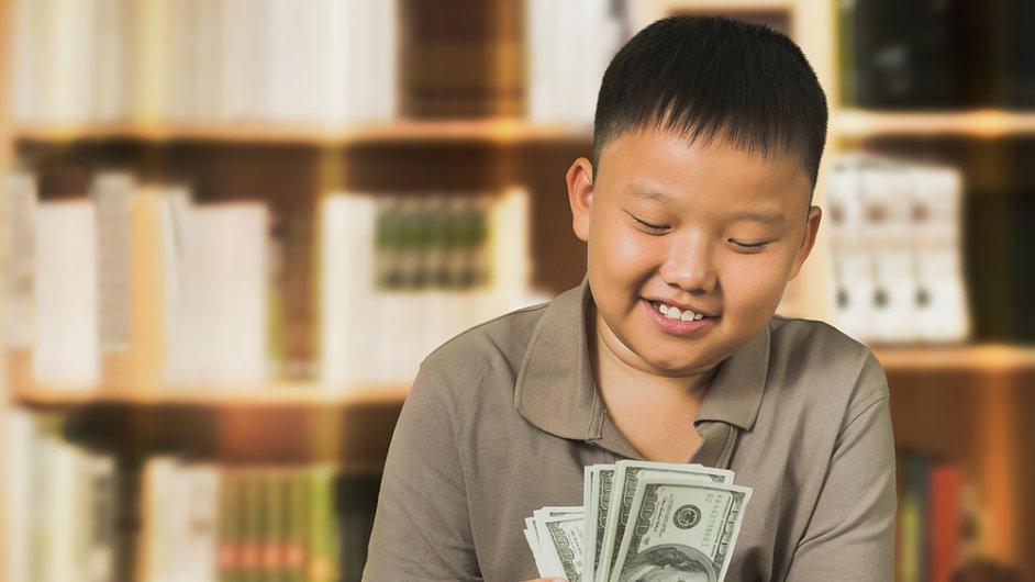 Čím dál víc potomků čínských multimilionářů počítá své kapesné v dolarech namísto jüanů. (Ilustrační foto)