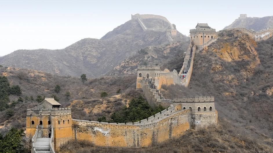 17. Velká čínská zeď v úseku Mutianyu, Čína.