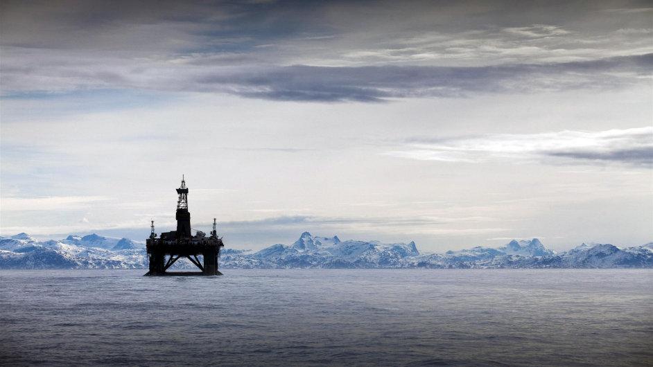 Těžební věž v Arktidě