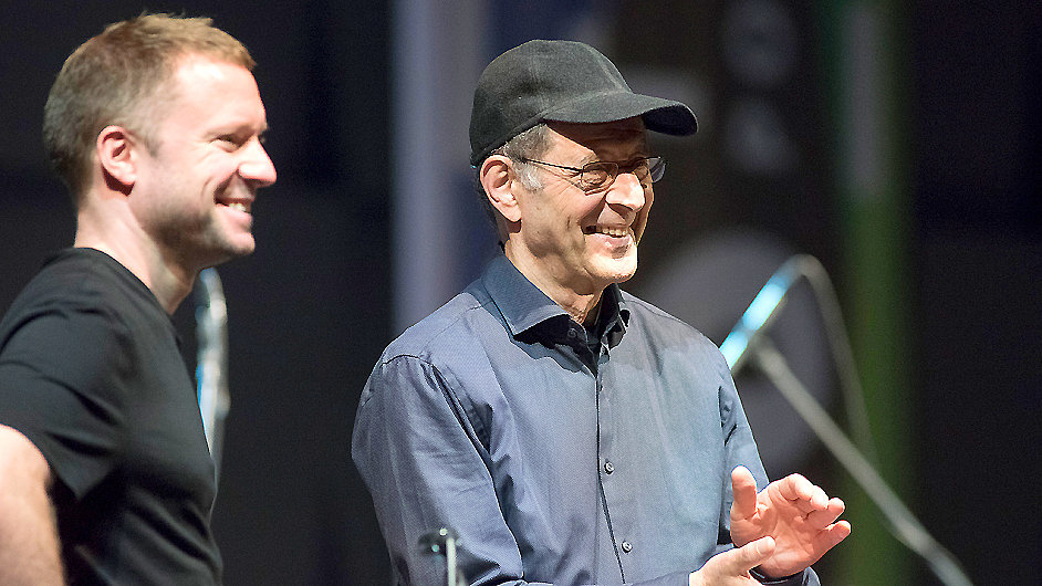 Colin Currie a Steve Reich v Praze vytleskali skladbu Clapping Music.