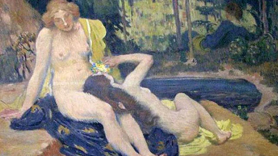 Jan Preisler - Koupání: Obraz z Národní galerie byl ukraden před 19 lety, letos jej policie našla.