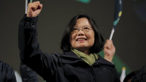 Prezidentské volby na Tchaj-wanu vyhrála opoziční vůdkyně Cchaj Jing-wen.