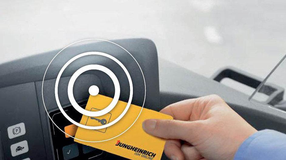 Verze EasyAccess Transponder je k dispozici i jako samostatné řešení pro vozíky jiných výrobců.