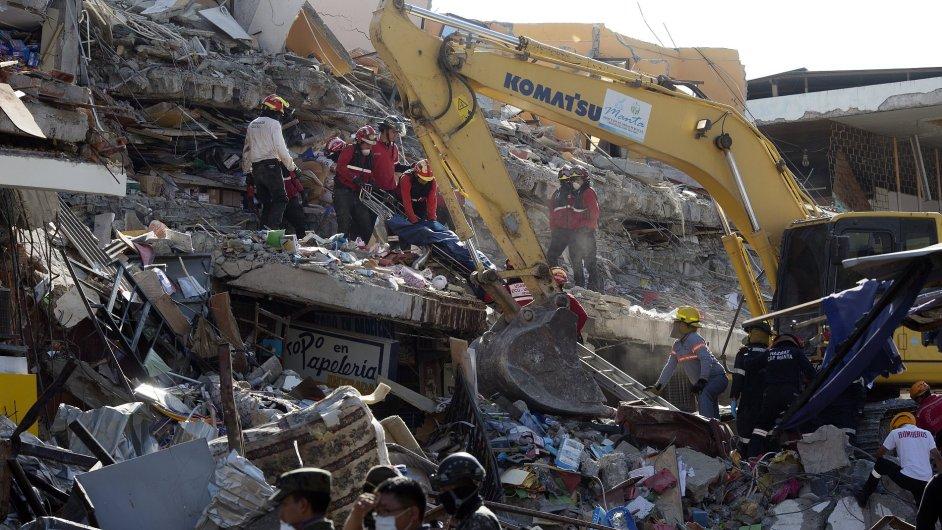 ekvádor zemětřesení
