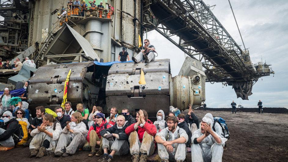 Důl Welzow-Jih okupovaný odpůrci fosilních paliv - Ilustrační foto.